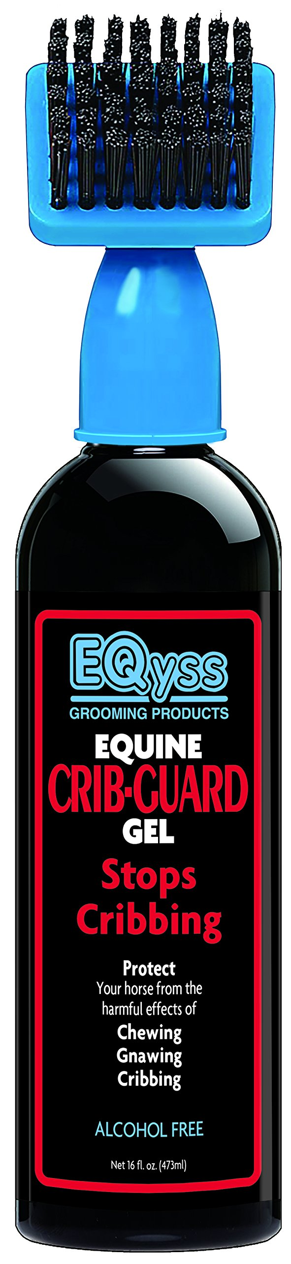 Eqyss Crib Guard Equine Gel 16oz - Guaranteed to Stop Your Horse from Chewing and Cribbing by Eqyss