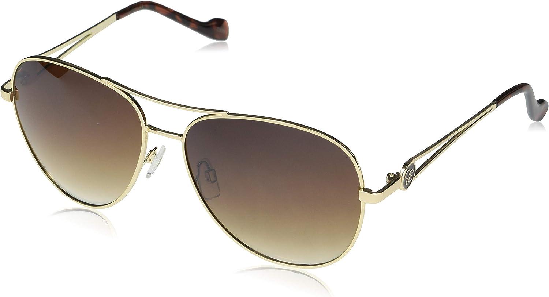 Brown Gradient Jessica Simpson J5596 GLDTS Women/'s Aviator Sunglasses Gold