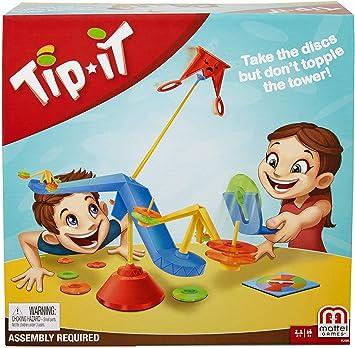 Mattel Games-Tip It, Juegos de Mesa para niños +5 años, Multicolor ...