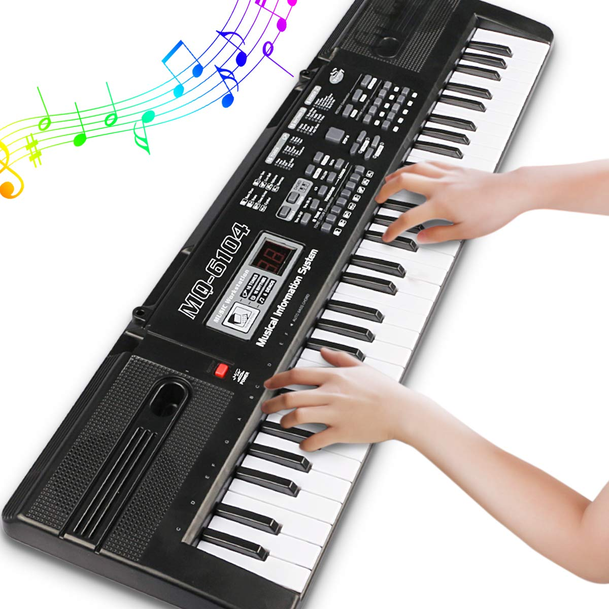 Digital Music Piano Keyboard 61 Key - Portable Electronic Musical Instrument with Microphone Kids Piano Musical Teaching Keyboard Toy For Birthday Christmas Festival Gift by Tencoz (Image #3)