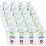 Hand Sanitizer Gel (24 Pack - Mini 2 oz Bottle) - 75% Alcohol - Kills 99.99% of Germs - Small 2oz Bulk Travel Size Individual
