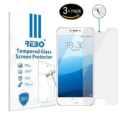 3 opinioni per Meizu Pro 6 Pellicola vetro temperato- RE3O® 3 x Pellicola protettiva vetro