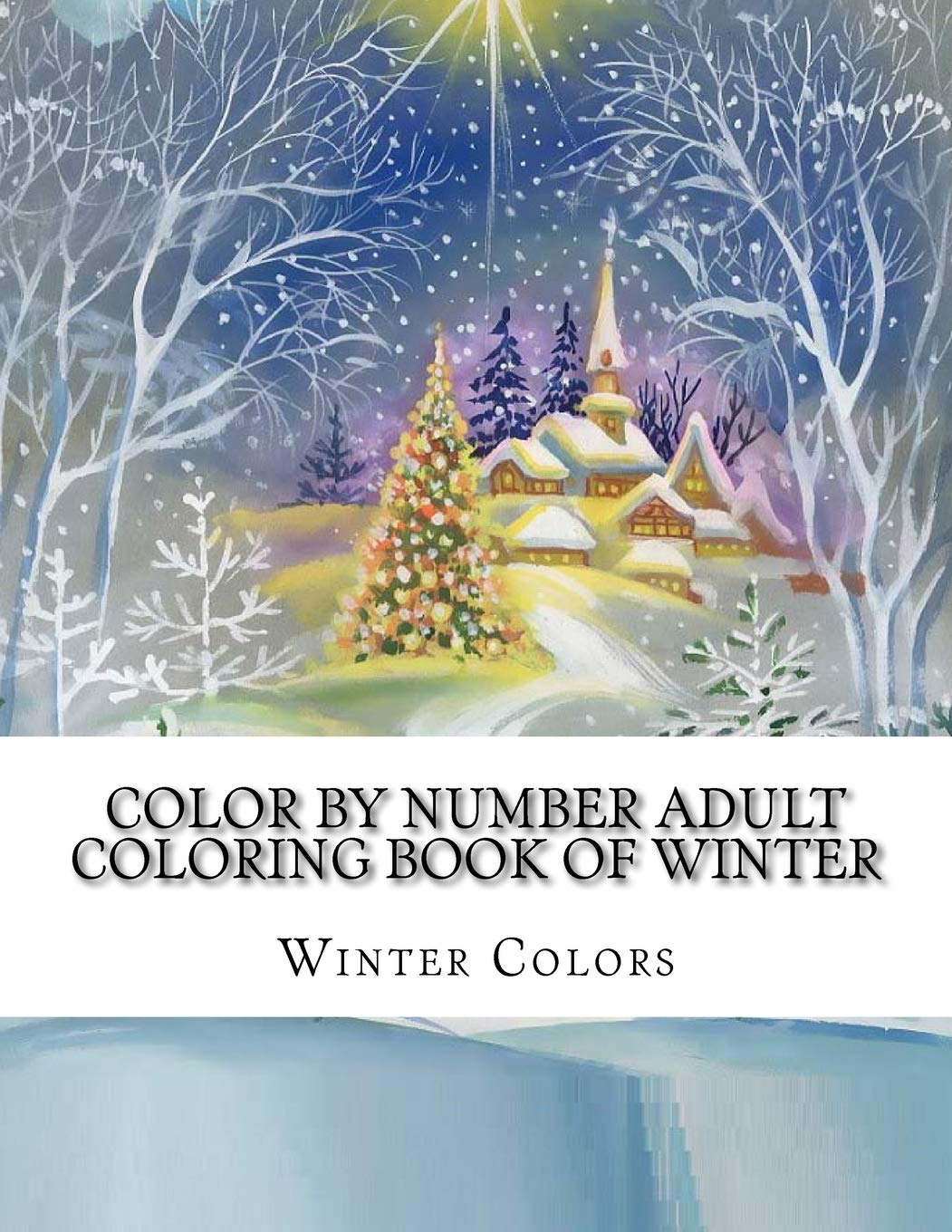 Color By Number Adult Coloring Book Of Winter  Festive Winter Fun Holiday Christmas Winter Season Coloring Book  Winter Color By Number Coloring Book For Adults