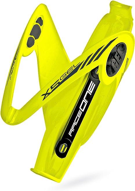 Portabidon Amarillo RACEONE X5 Gel Fibra de Bicicleta + Accesorios MTB BTT 3312amarillo
