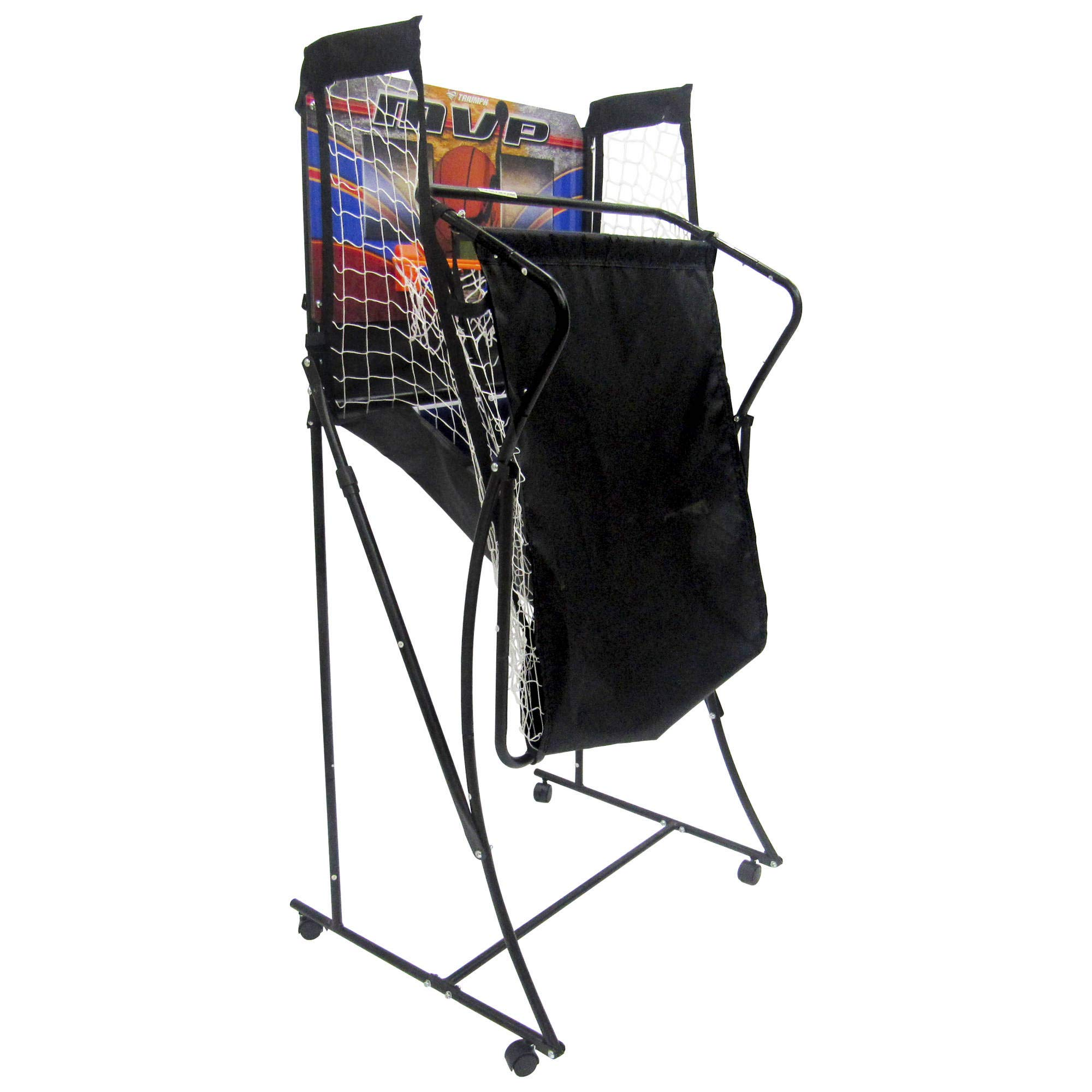 TRIUMPH 60'' Space Saver 2-Player Basketball with Electronic Scoring by TRIUMPH