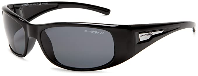 Arnette Hold Up Gafas de sol, Rectangulares, Polarizadas, 58, Gloss Black
