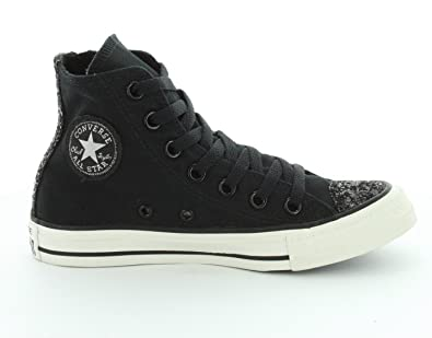 78c7e5248579 Converse Chucks Chuck Taylor All Star Sparkle toe cap 545056C Black Black