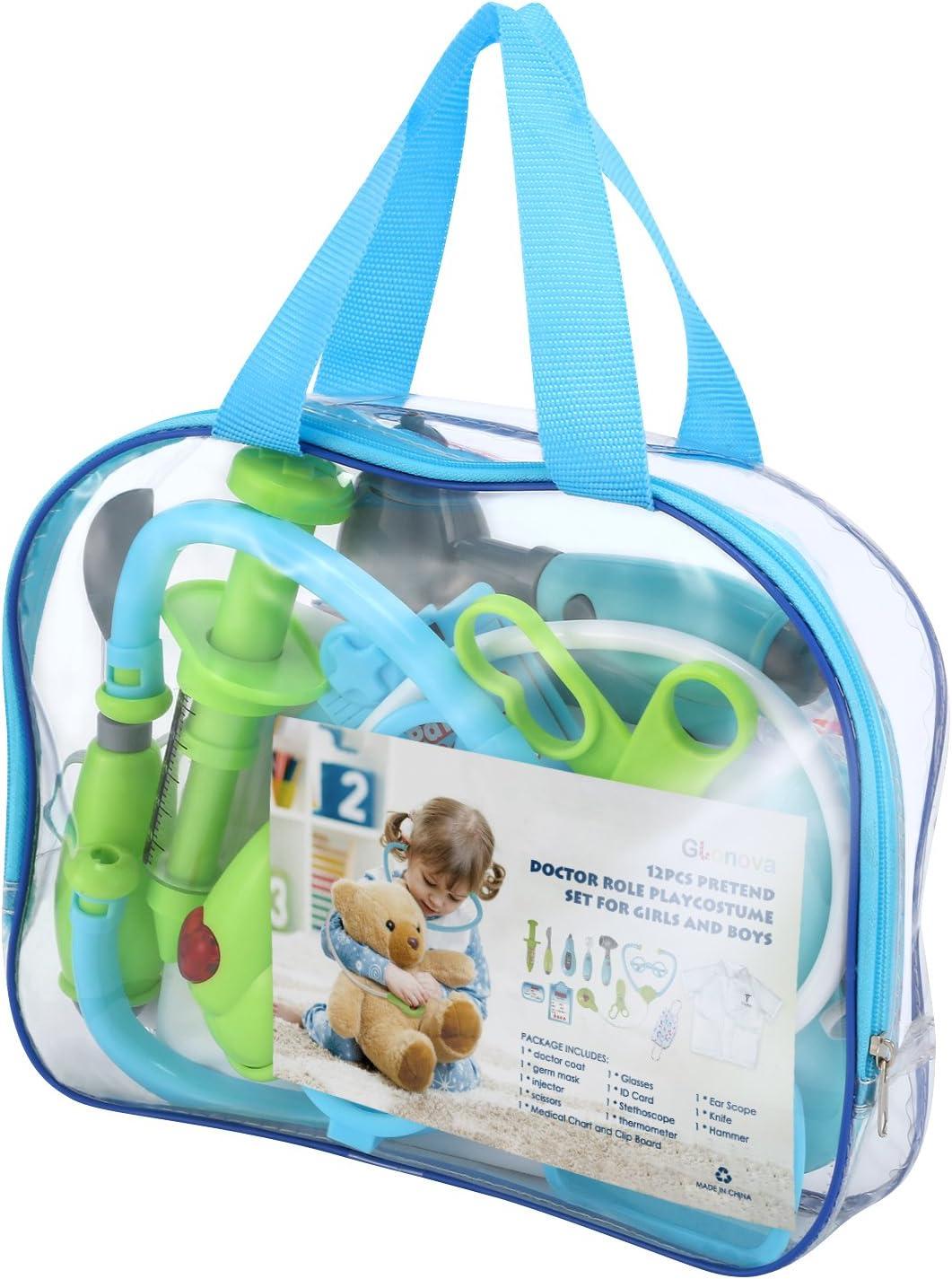 12 PCS Kit Medico Bambini Gioco di Ruolo Dottore per Bambini Glonova Kit Dottore per Bambini