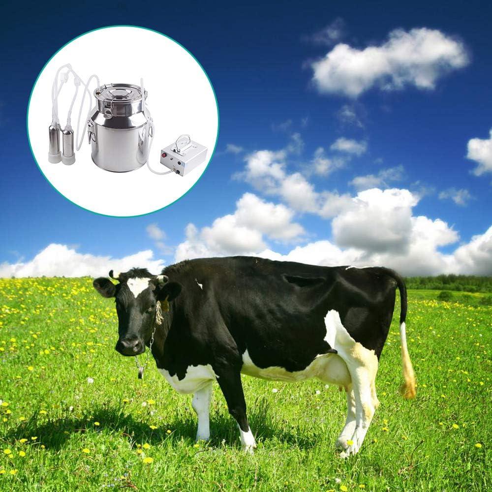 MaquiGra Machine /à traire de Ch/èvre Vache Automatique Impulsion /éLectrique en Acier Inoxydable Vitesse r/églable Usage Domestique ou Commercial 5L, Ch/èvre