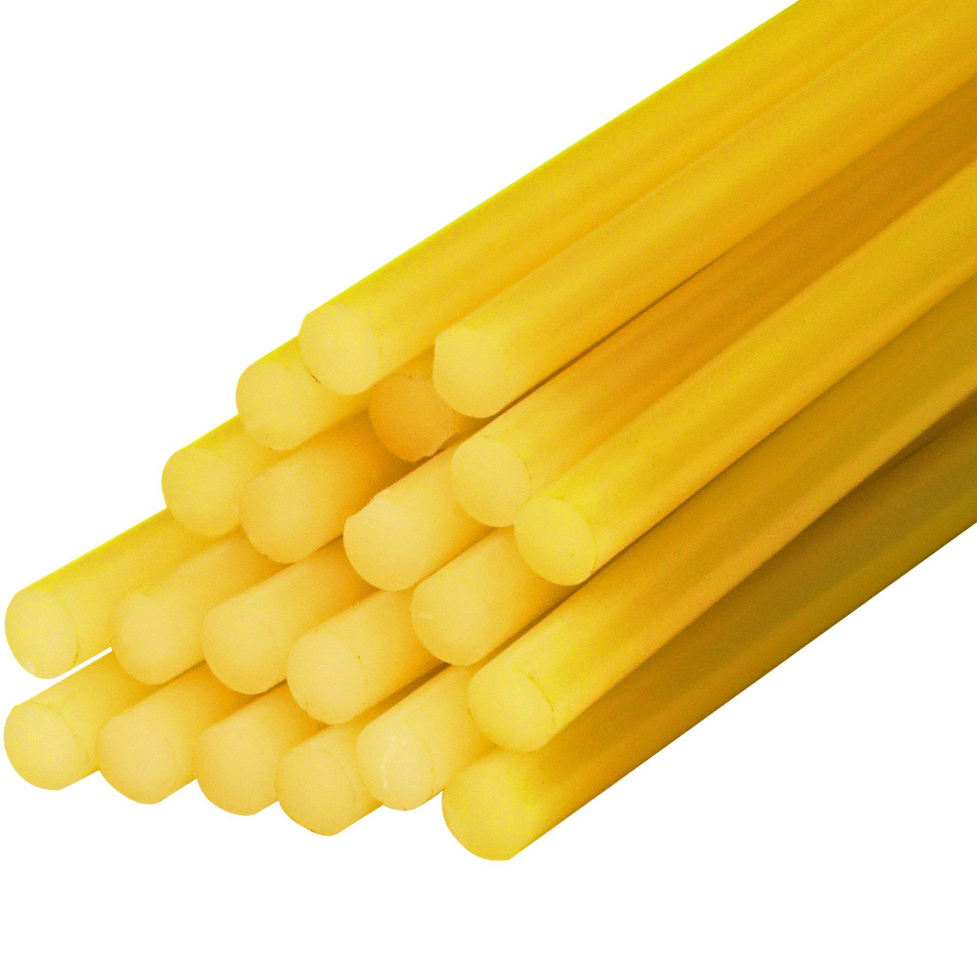 Partners Brand PGL4007 Amber Glue Sticks, 15'' Length, 0.5'' Width (Pack of 60)