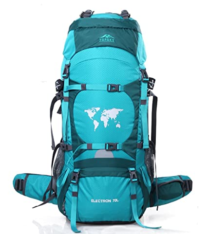 b2265213eb Topsky Unisex Outdoor Sports Mountaineering Travel Waterproof Camping  Hiking Backpack 70l (Emerald)