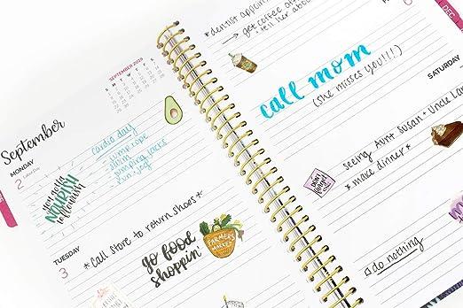 Bloom diario planificador de día - Calendario mensual ...