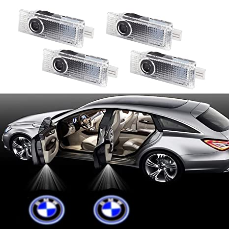 2x Car Door LED Logo Projector Light for BMW,Ghost Shadow Welcome Lights Courtesy Step Lamp Kit for BMW