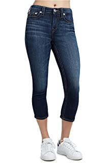 d460957b6a49 Amazon.com  True Religion Women s Halle Super Skinny Crop Capri ...