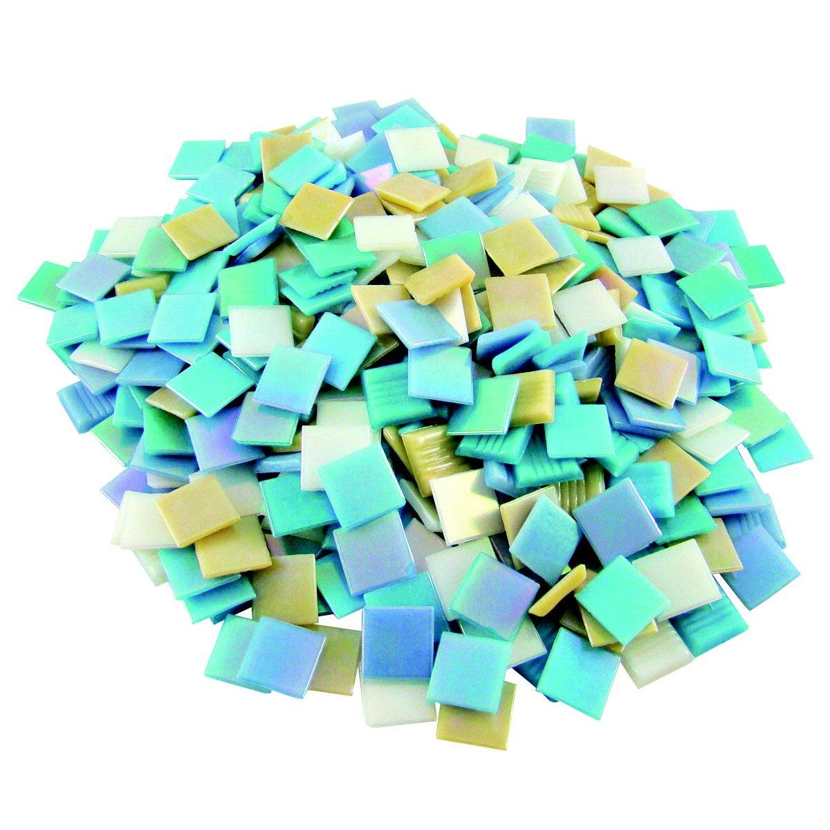 Jennifer's Mosaics Iridized Venetian Glass Tile Assortment, Assorted Colors, 3 Pounds