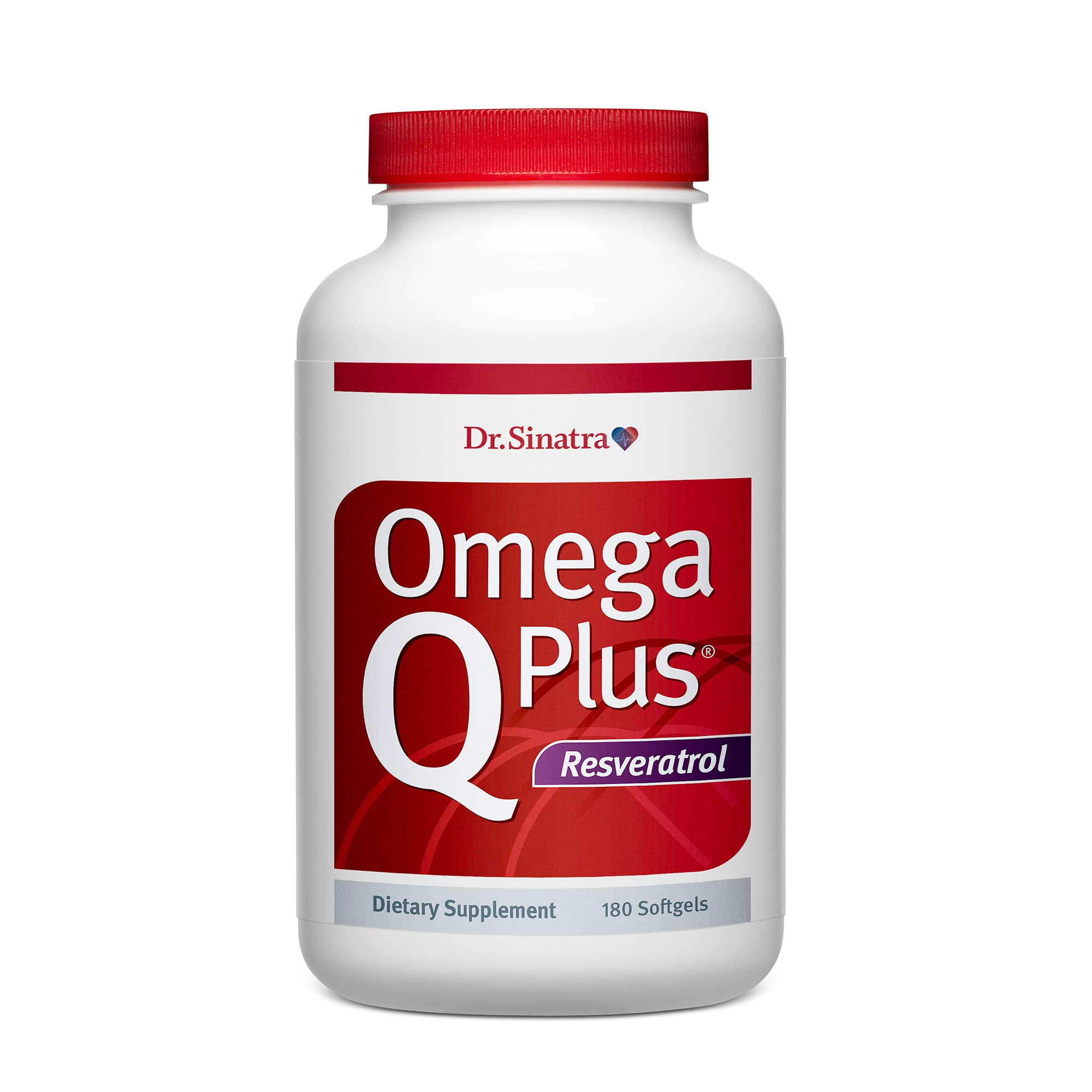 Dr. Sinatra's Omega Q Plus Resveratrol - Omega-3 Supplement with CoQ10 and Resveratrol - Promotes Comprehensive Heart and Whole Body Health to Help You Age Well (180 softgels) by Dr. Sinatra