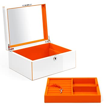 Amazoncom Swing Design Aria Lacquer Jewelry Box Large Tangerine