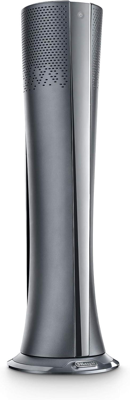 De longhi hfx85w20c termoventilatore, purificatore d`aria e ventilatore, prodotto 3 in 1, display a led, 2000