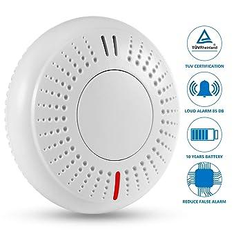 SENDOWTEK Detector de Humo,EN14604,CE,ROHS,REACH, Alarma de Humo