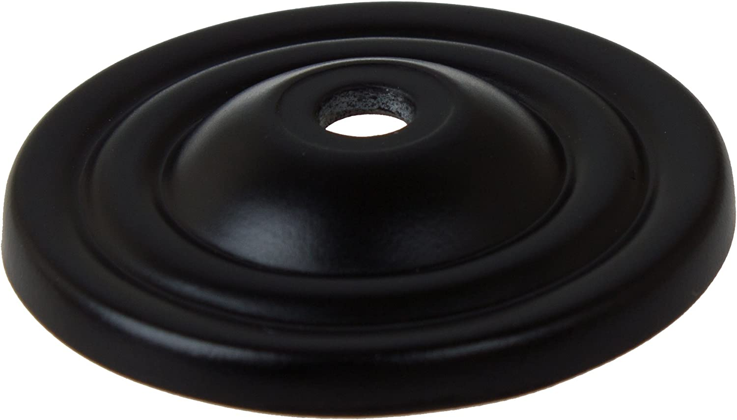 GlideRite Hardware 5061-MB-1 Type Thin Rounded Ring Cabinet Back Plate 1.5 Matte Black Finish