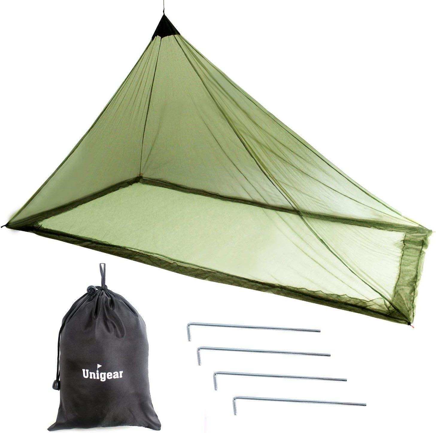 Unigear Mosquitera Camping Portátil 2 Personas para Acampa Campaña Hamaca Red Antimosquitos Mosquito Net 240X140X130CM (no disponible)