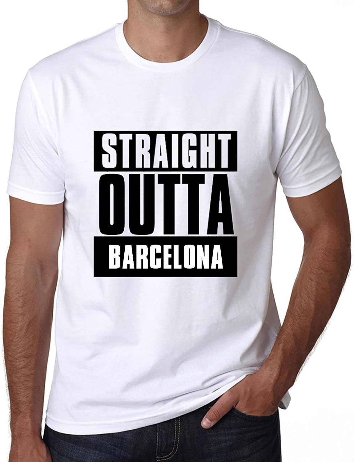 One in the City Straight Outta Barcelona, Camisetas para Hombre ...