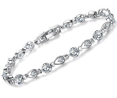 Armschmuck  anewish Armband Damen Armschmuck Armbänder mit Zirkonia 17.5+3 cm ...