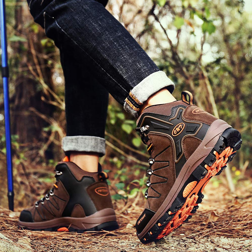 TSIODFO Waterproof Hiking Boots for Men Suede Ankle Boot Outdoor Climbing Trekking Walking Sneakers Winter Hiking Shoes