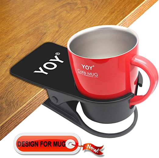 Amazon Com Yoy Drink Cup Holder Clip Table Desk Side Water