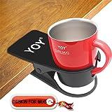 YOY Drink Cup Holder Clip - Table Desk Side Water Glass Beer Bottle Beverage Soda Coffee Mug Holder Cup Saucer Clip Design fo