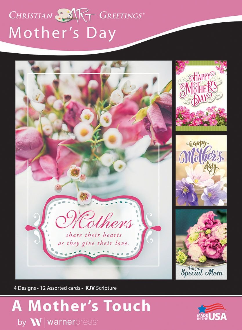 Amazon A Mothers Touch Mothers Day Greeting Cards Kjv