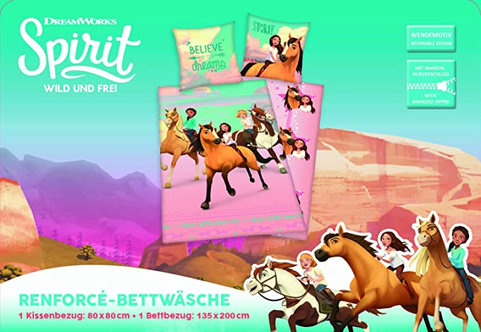 DreamWorks Pigiama a Maniche Lunghe per Ragazze Spirit Riding Free