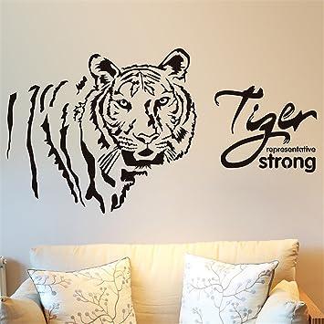 GOUZI Höhle Wand Deko Schreibtisch Muster Tiger, Schwarz Klein Wall Sticker  Abnehmbare Wall Sticker Für