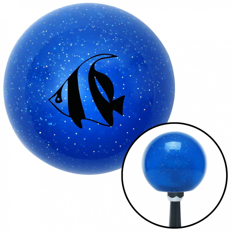 American Shifter 22228 Blue Metal Flake Shift Knob Black Clown Fish