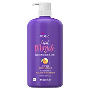 For Damage – Aussie Paraben-Free Total Miracle Conditioner w/ Apricot, 30.4 fl oz (Packaging May Vary)