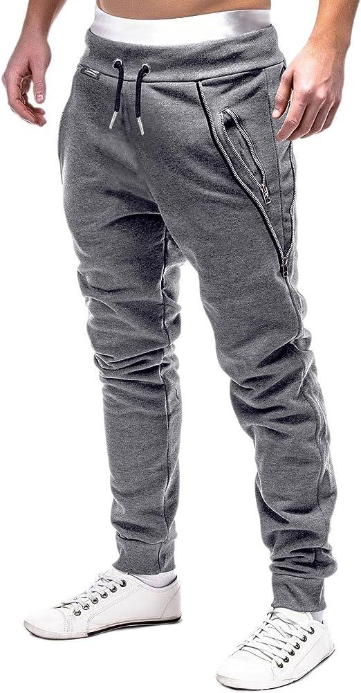 MODCHOK Hombre Pantalones Largos Chándal Jogger Chino ...