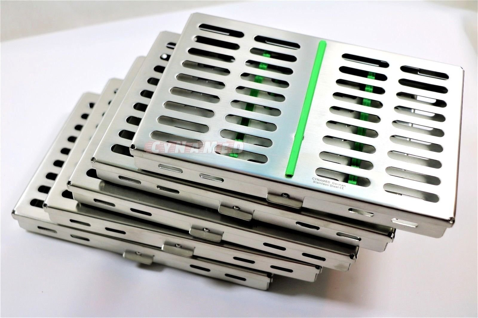 10 German Dental Surgical Autoclave Sterilization Cassette Box for 10 Instruments Green CYNAMED by CYNAMED (Image #4)