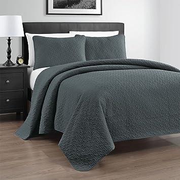 Amazon.com: Zaria 3-Piece Quilt / Coverlet Set, King/Cal King ... : california king coverlets quilts - Adamdwight.com