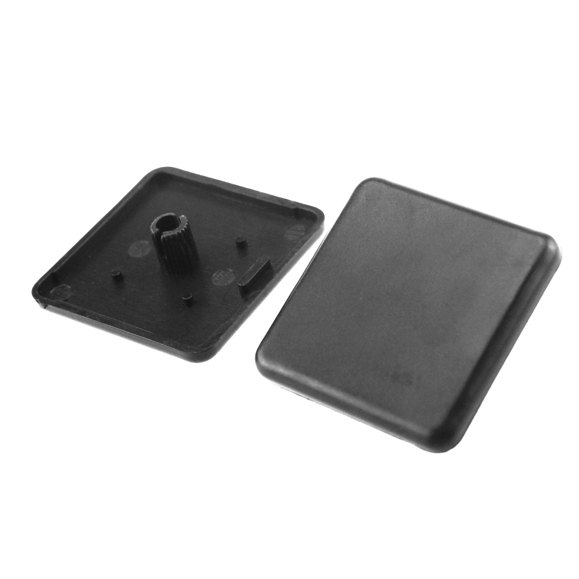 Iztoss Plastic ABS Accessories End Cap Black for Aluminum Extrusion 20pcs 40x40mm