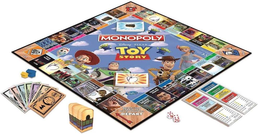 Monopoly–Juego de Societe Monopoly Toy Story–Juego de Bandeja–Version Francesa