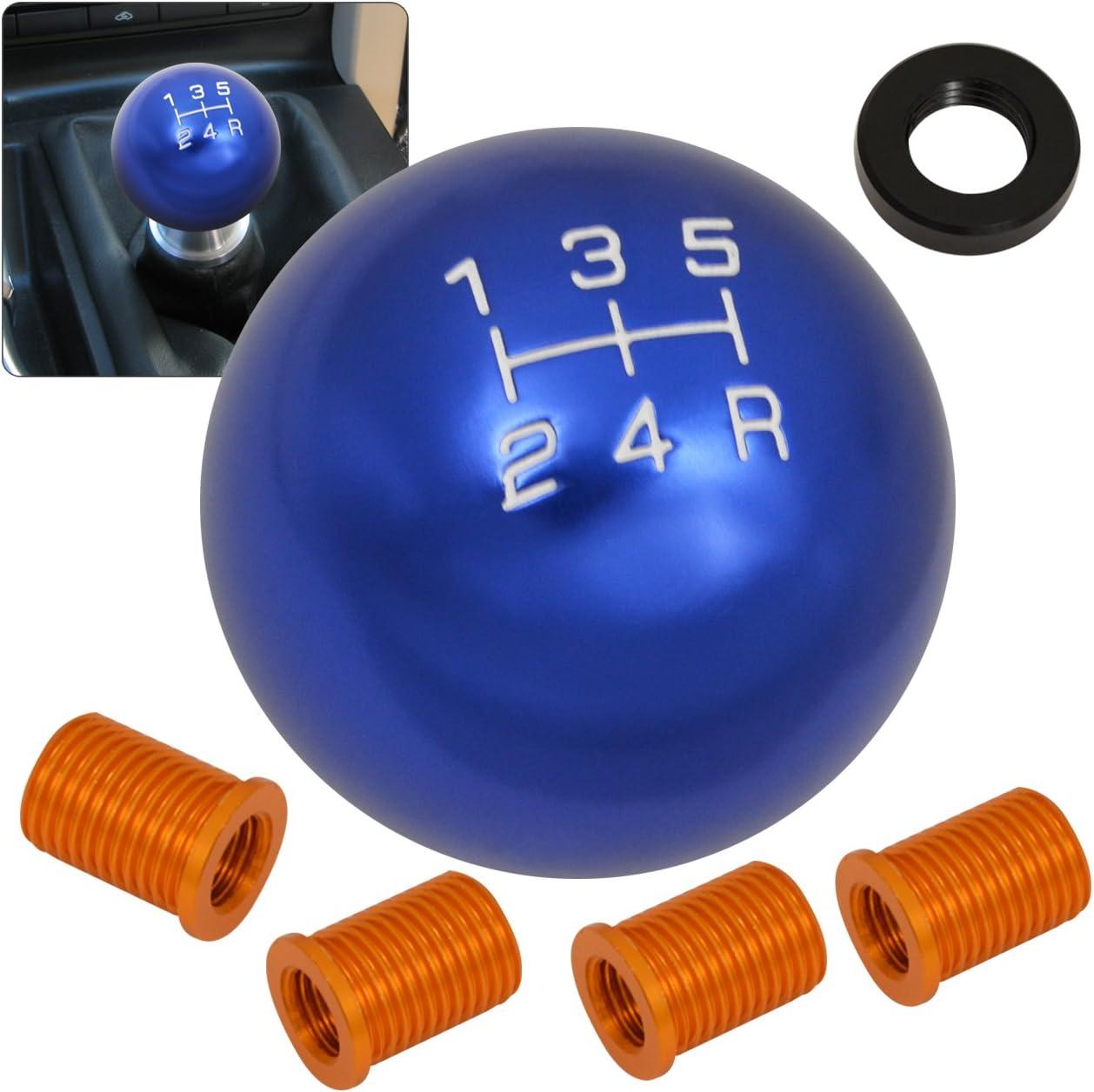 Gear Shift Knob Titanium Burn Finish Fit M8x1.5 M10x1.25 M10x1.5 M12x1.5