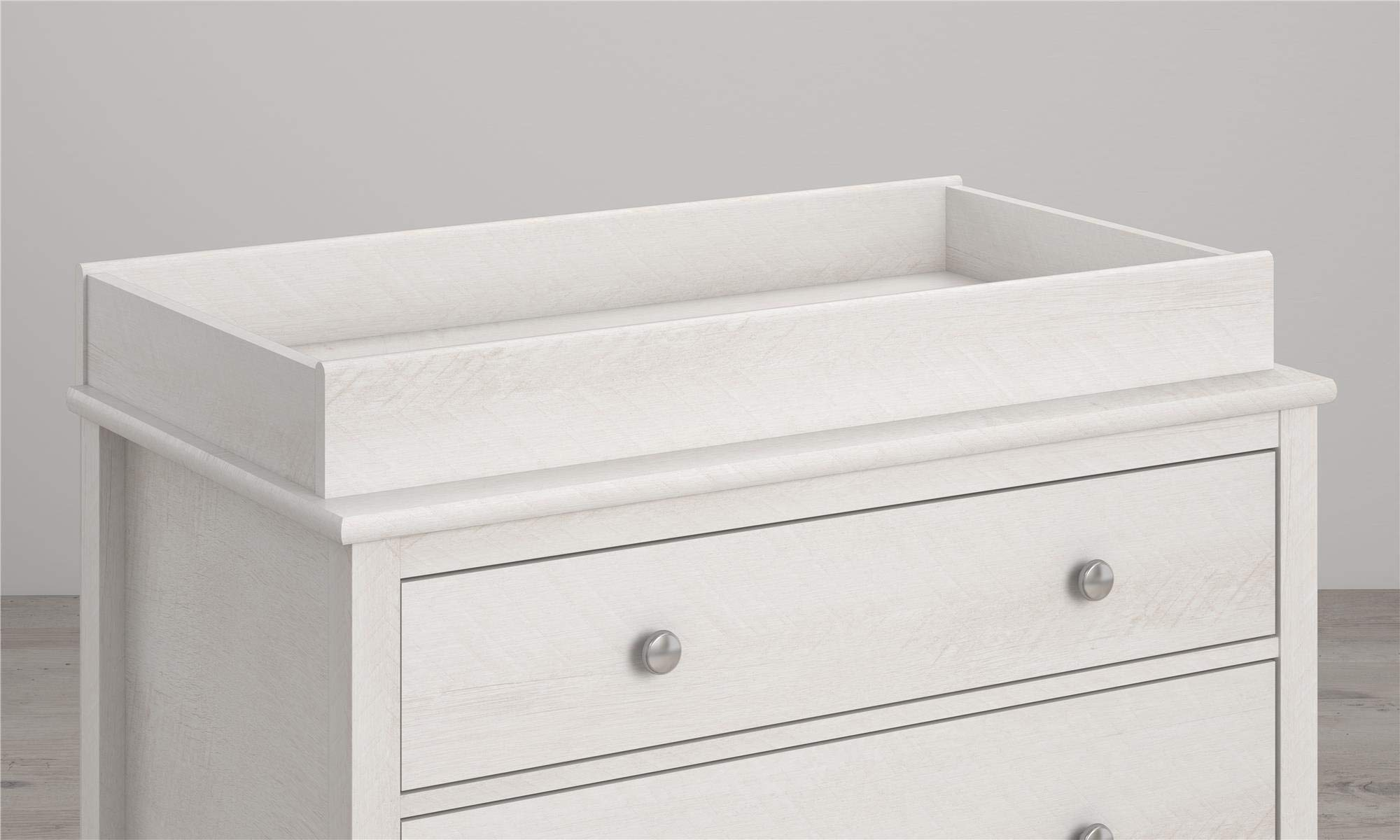 Little Seeds Monarch Hill Poppy Changing Table Topper, Ivory Oak
