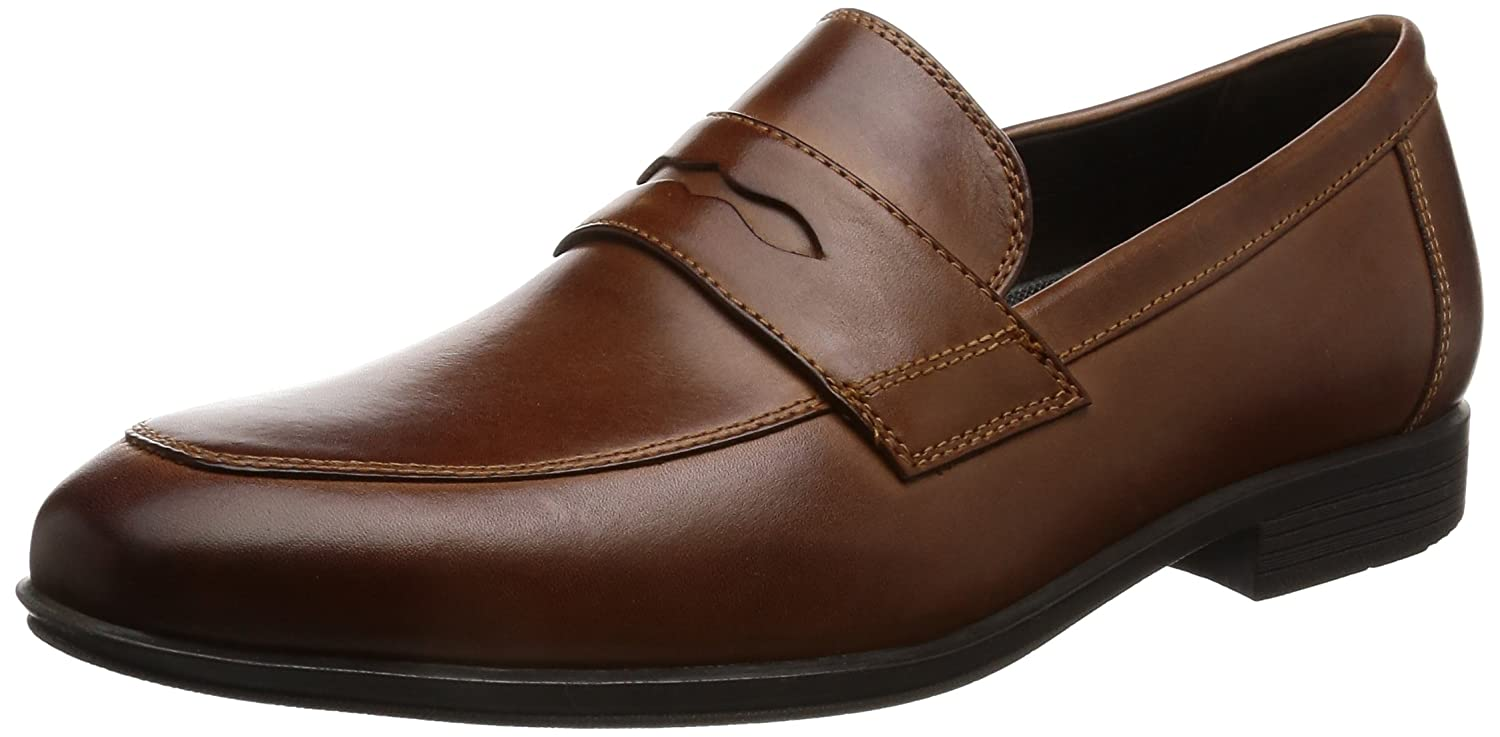 Rockport Style Connected Penny, Mocasines para Hombre 41 EU|Marrón (Brown Leather)