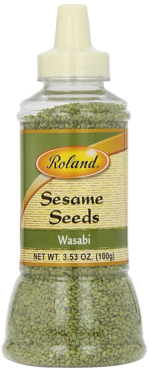 Roland Sesame Seeds, Wasabi, 3.53 Ounce (Pack of 6)