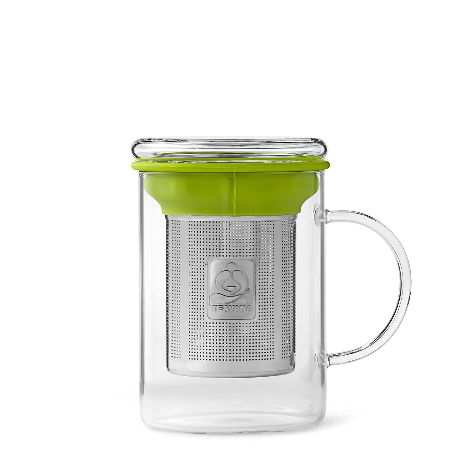 Green Remi Glass Tea Mug with Stainless Steel Infuser by Teavana 30417-014