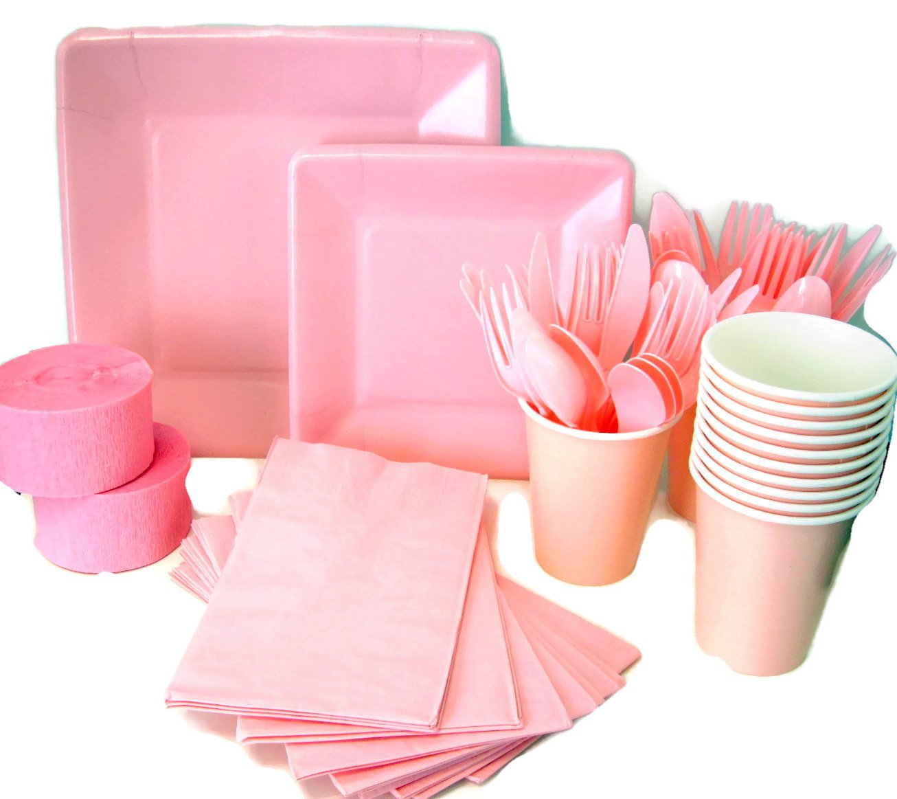 HOT PINK Tablecovers Napkins Party Bags Streamers Plates Cups Decorations