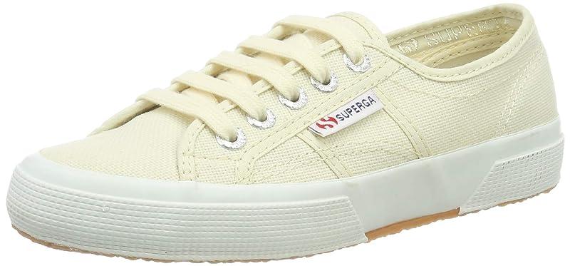 Superga 2750 Cotu Classic Sneakers Low-Top Unisex Damen Herren Gelb/Elfenbein (Ivory)