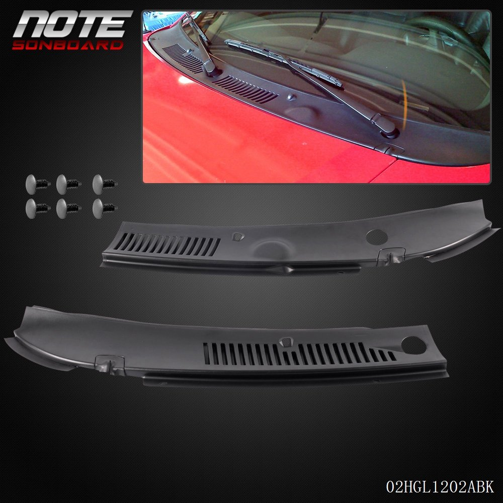 MUSTANG FORD COWL VENT GRILLE COVER BLACK 1999-2004