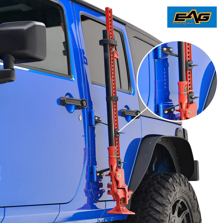 EAG 2007-2018 Jeep Wrangler JK Hi Lift Jack Mount Hood Hinge Bracket by EAG (Image #2)