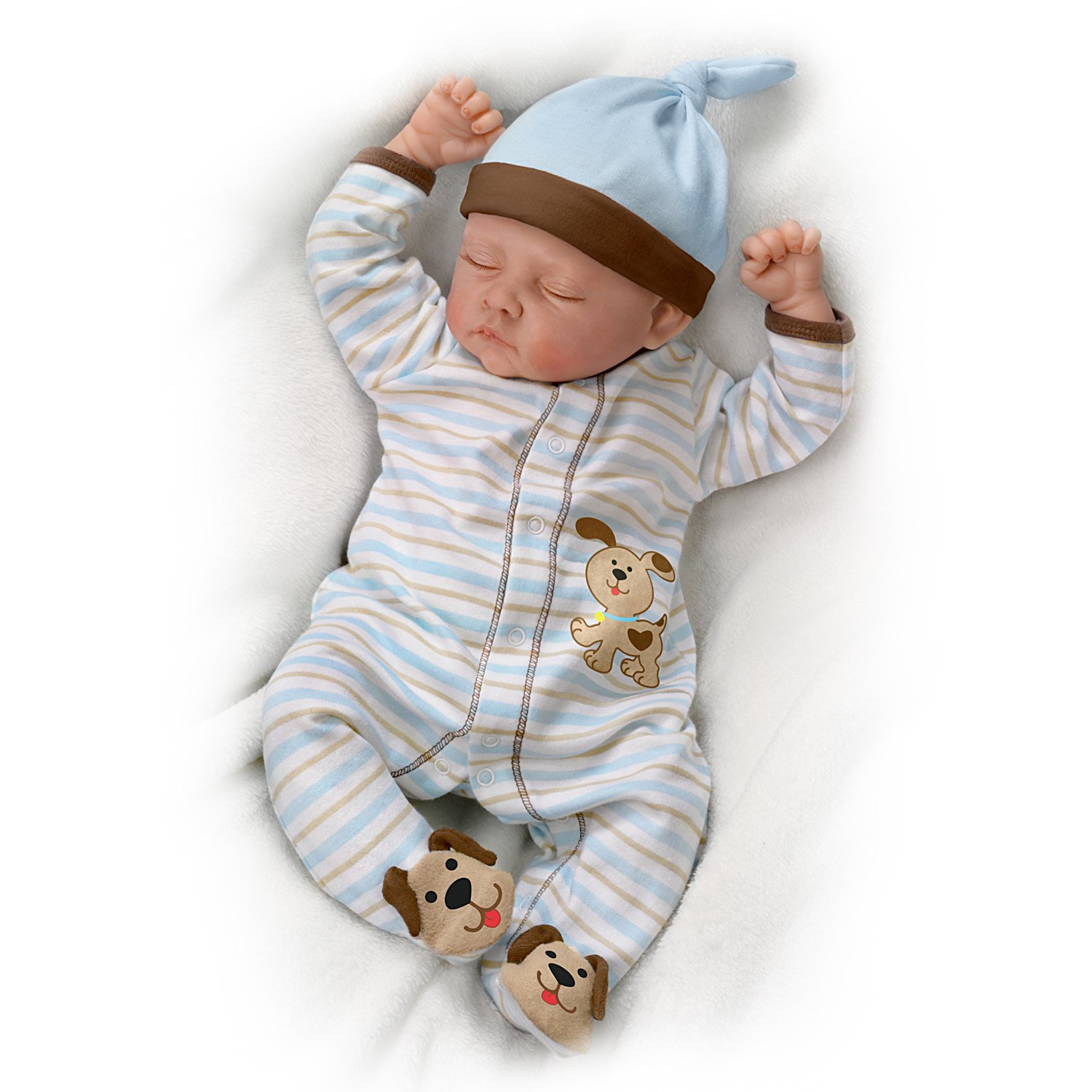 Sweet Dreams, Danny So Truly Real® Lifelike & Realistic Weighted Newborn Baby Boy Doll 19-inches by The Ashton-Drake Galleries by The Ashton-Drake Galleries